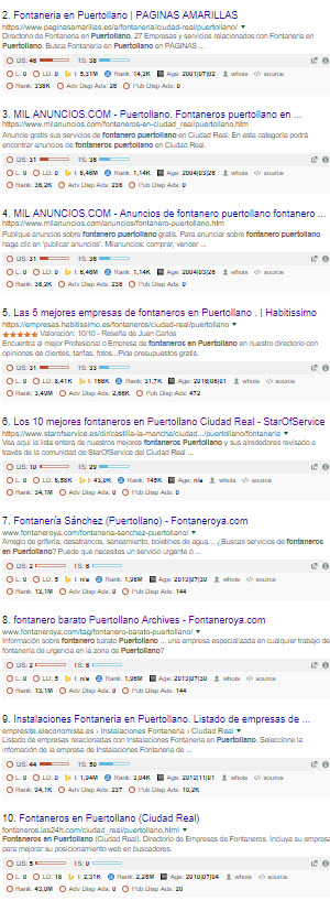 resultados orgánicos para la búsqueda fontanero en Puertollano