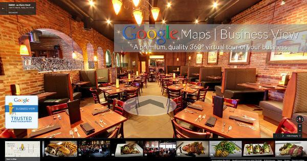 ejemplo de fotografías 360 en Google my Business