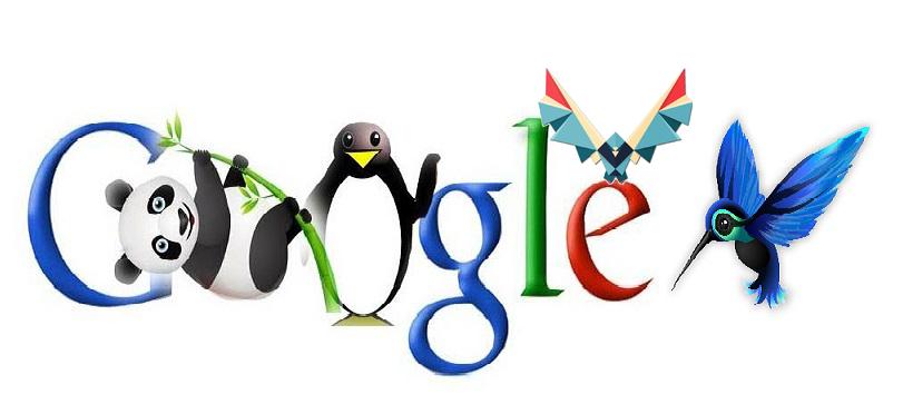diferentes algoritmos de google